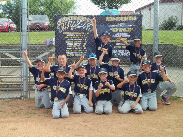 7u River City Thunder Baseball team